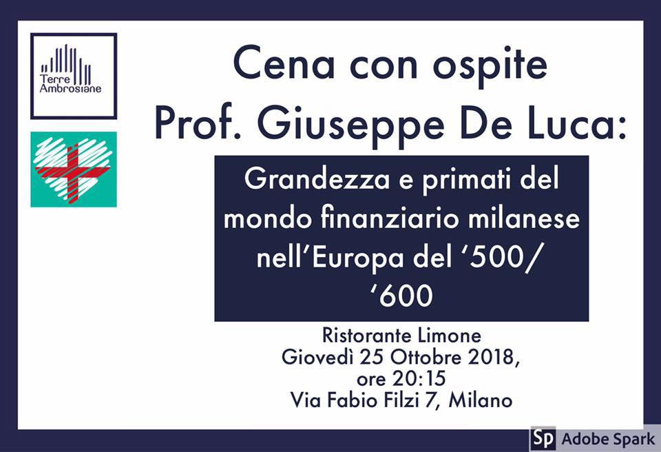 Eventi 2018 – Cena con Prof. Giuseppe